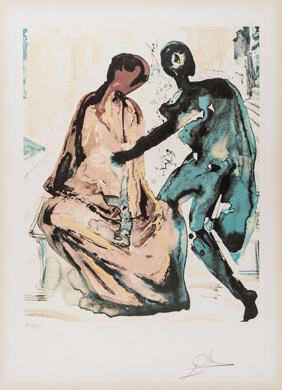 Salvador Dalí, 'Anthony and Cleopatra. From Les Amoureux (M & L 1568g; Field 80-2)', 1979, Print, Lithograph printed in colours, Forum Auctions