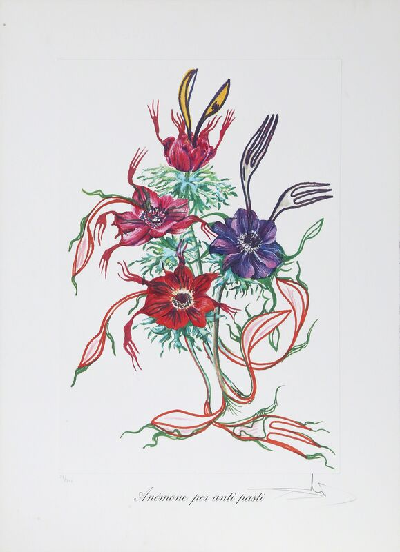 Salvador Dalí, 'Anemone per Anti-Pasti (Anemone of the Toreador) from Florals', 1972, Print, Lithograph with embossing on heavy Arches paper, RoGallery