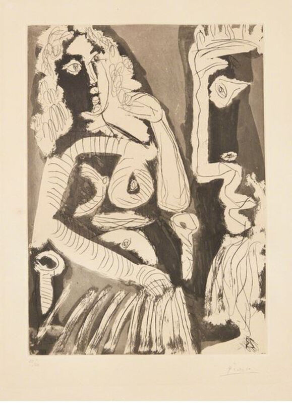 Pablo Picasso, 'Le modèle au repos dans un fauteuil', 1965, Print, Etching and aquatint, Galerie Montmartre