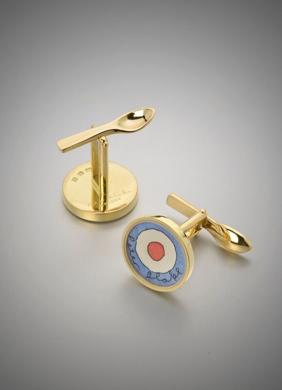 Peter Blake, 'Red Target, Cufflinks ', 2008, Jewelry, 18k gold and watercolour on paper, Louisa Guinness Gallery