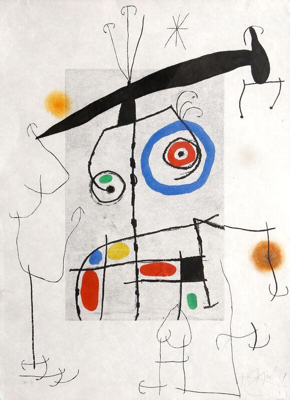 Joan Miró, 'L'homme au balancier', 1969, Print, Aquatint, Etching and Carborundum, RoGallery