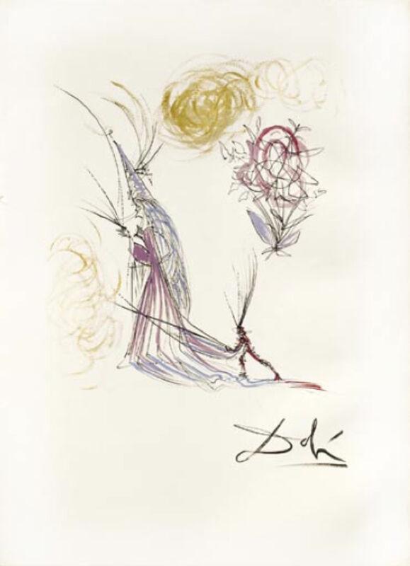 Salvador Dalí, 'Le Spectre et la Rose  (The Spectrum  and the Rose)', 1968, Print, Etching, Puccio Fine Art
