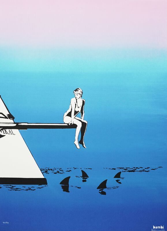 Bambi, 'Diana with Sha', 2021, Print, Hand-pulled silkscreen print on 425gsm Saunders Waterford, Graffik Gallery Limited