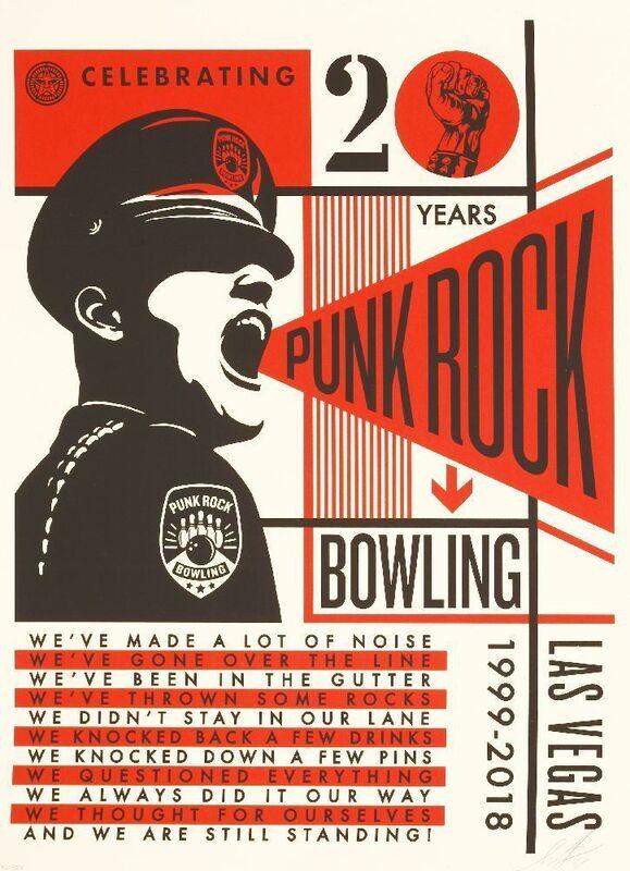 Shepard Fairey, 'PUNK ROCK BOWLING', 2018, Print, Screenprint in colours, Sworders