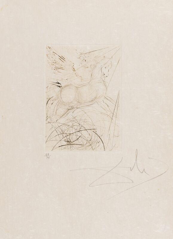 Salvador Dalí, 'Pégase (Field 68-4 A)', 1968, Print, Engraving, Forum Auctions