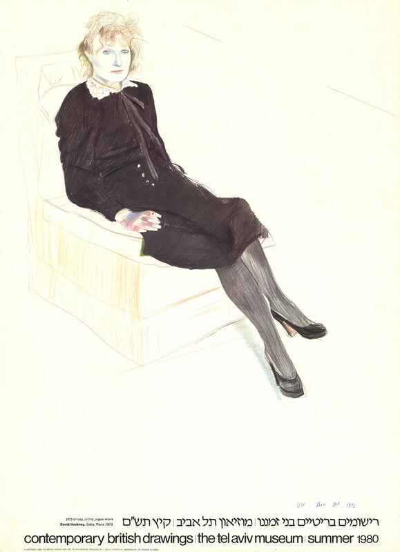 David Hockney, 'Celia, Paris', 1980, Ephemera or Merchandise, Offset Lithograph, ArtWise