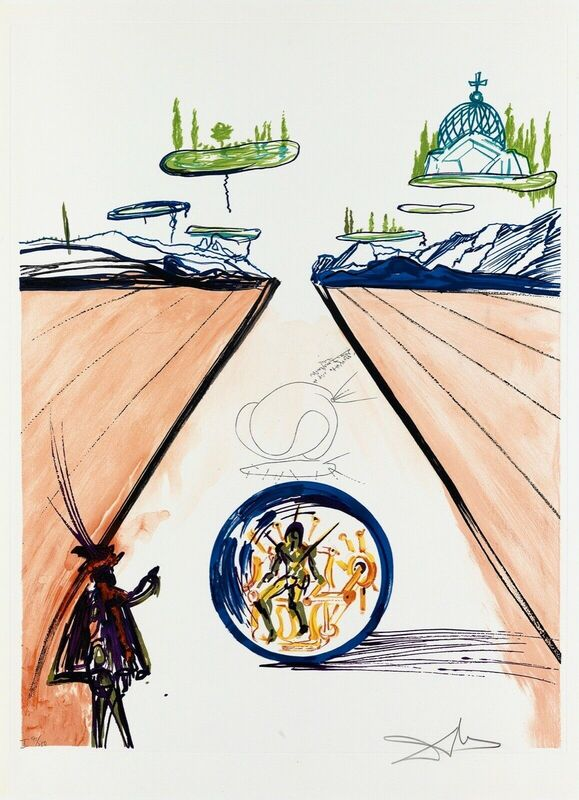 Salvador Dalí, 'Intra-Uterine Paradesic Locomotion (Imagination & Objects of the Future Port.)', 1975, Print, Lithograph on Arches paper, Art Commerce