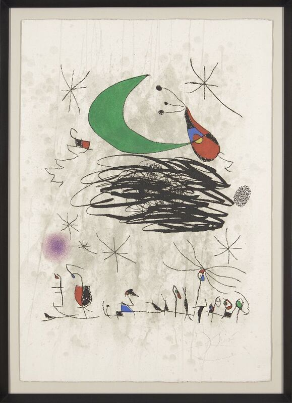 Joan Miró, 'Saturnalian Insects [Dupin 746]', 1975, Print, Etching with aquatint in colours on Arches wove, Roseberys
