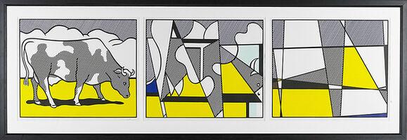 Roy Lichtenstein, 'Cow Triptych: Cow Going Abstract (set of 3)', 1982