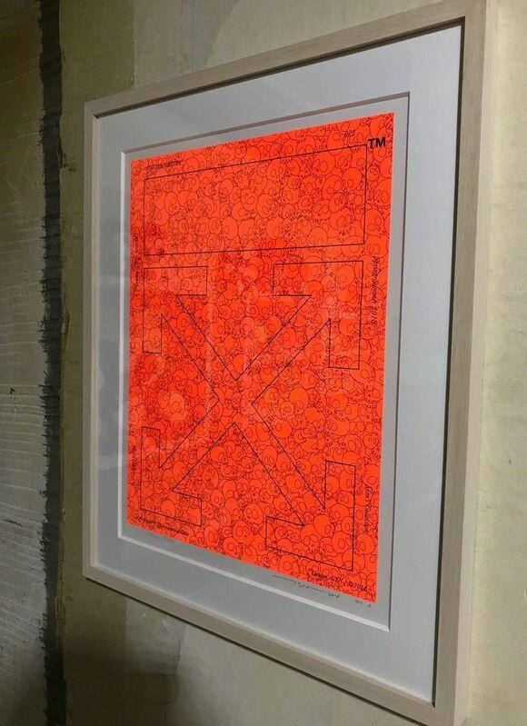 Takashi Murakami, 'Memento Mori: Fluorescent Orange', 2018, Print, Silk, Dope! Gallery