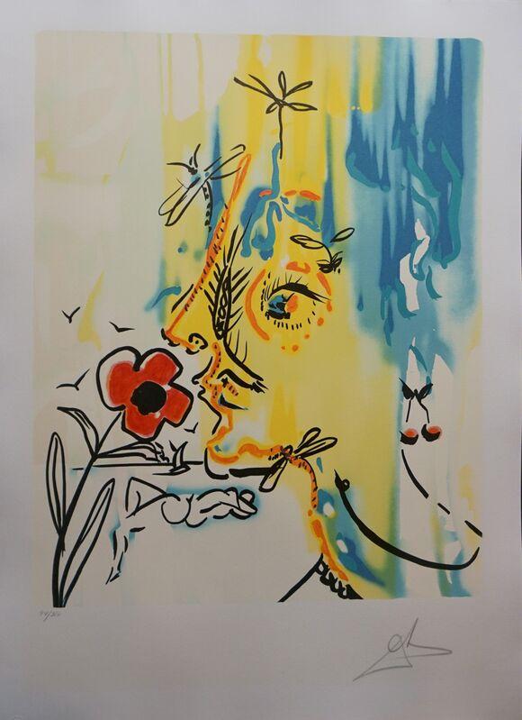 Salvador Dalí, 'Fleurs Surrealiste Suite Gala's Bouquet & Vanishing Face', 1980, Print, 2 Lithographs, Fine Art Acquisitions Dali