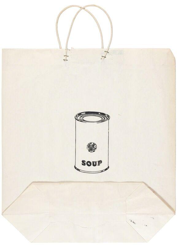 Andy Warhol, 'Campbell'S Soup Can On A Shopping Bag (Feldman/Schellman 4)', 1964, Mixed Media, Screenprint on a paper shopping bag, Doyle