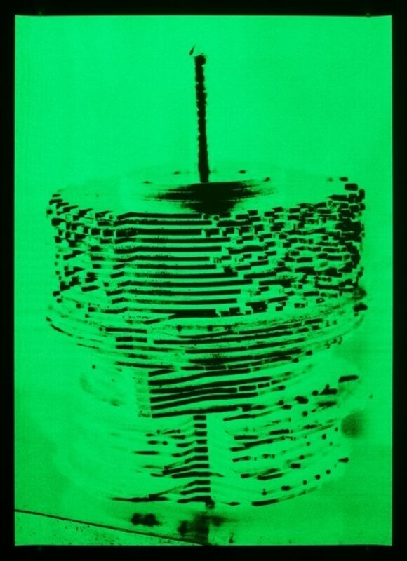 Philippe Parreno, 'The Draughstman, Attempted Programming of an 18 Century Automaton, 2007', 2013, Drawing, Collage or other Work on Paper, Green phosphorescent ink on paper, Pilar Corrias Gallery