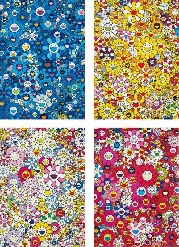 Takashi Murakami, 'An Homage to IKB, 1957; An homage to Monogold 1960 A; An Homage to Yves Klein, Multicolor A; and An homage to Monopink 1960 A', 2011-12, Print, Four offset lithographs in colours, on smooth wove paper, the full sheets., Phillips