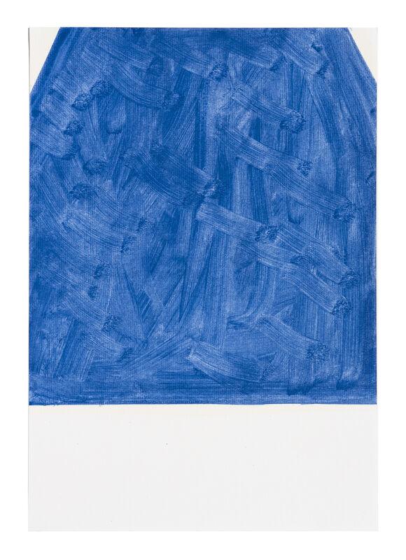 John Zurier, 'October (28)', 2020, Painting, Oil on paper, Peter Blum Gallery