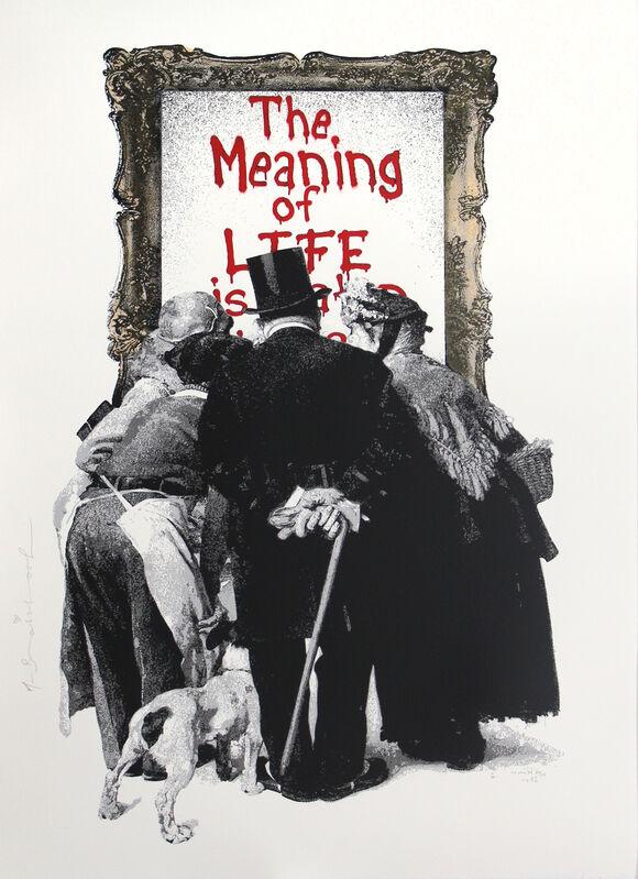 Mr. Brainwash, 'The Meaning of Life (Red)', 2019, Print, Silkscreen on paper, DANE FINE ART