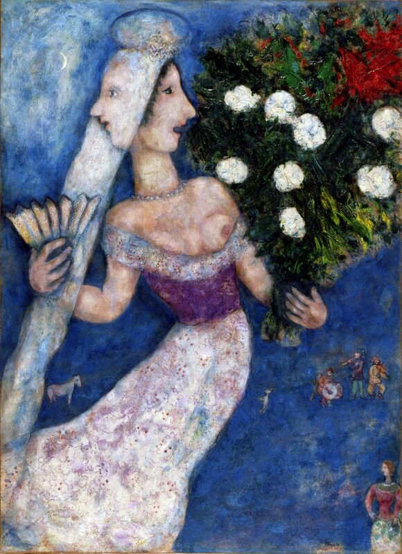 Marc Chagall, 'The Bride with Two Faces (La mariée à double face)', 1927, Painting, Oil on canvas transposed, relined, Dallas Museum of Art