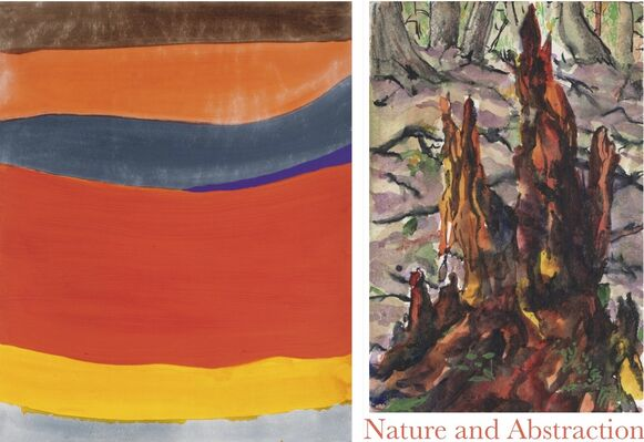 The Color of Seasons: Nature and Abstraction  in the Paintings of Carolyn Newberger and Philip Gerstein, installation view