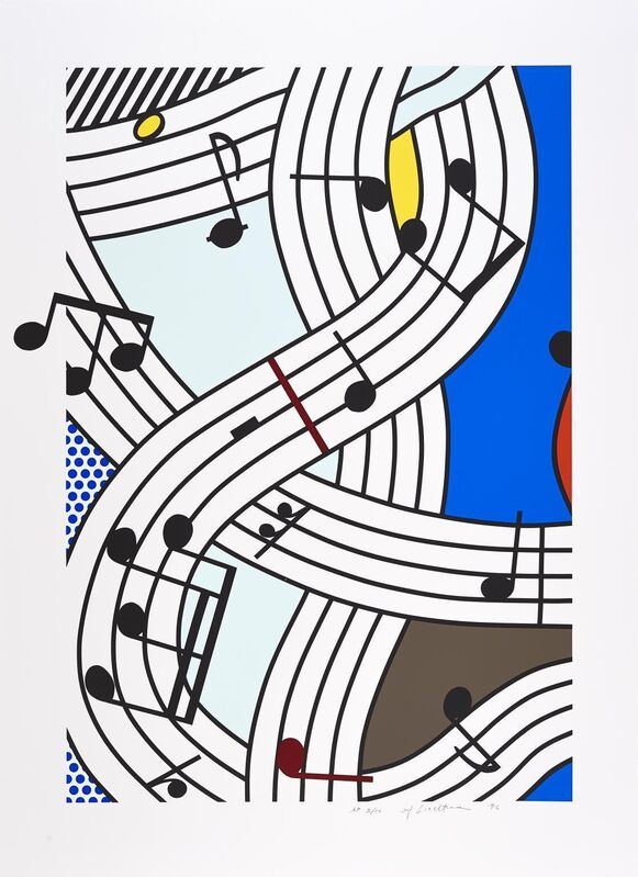 Roy Lichtenstein, 'Composition I', 1996, Print, Screenprint in colors on Lanaquarelle paper, Taglialatella Galleries