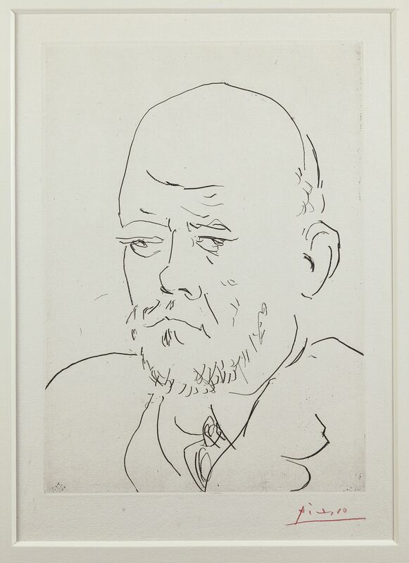 Pablo Picasso, 'Portrait de Vollard I & III, from: La Suite Vollard', 1937, Print, One aquatint and one etching on Montval laid papers, Christie's