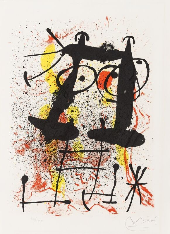 Joan Miró, 'Haï-Ku (See Cramer 118)', 1967, Print, Lithograph printed in colours, Forum Auctions