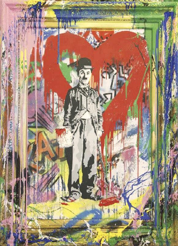 Mr. Brainwash, 'Chaplin', 2018, Mixed Media, Silkscreen & Mixed Media on Paper, Cha Cha Gallery