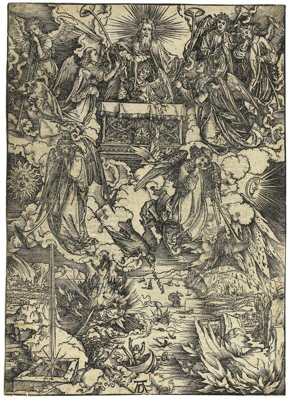 Albrecht Dürer, 'Die sieben Posaunenengel (The Seven Angels with Trumpets)', 1498, Print, Woodcut, R. S. Johnson Fine Art