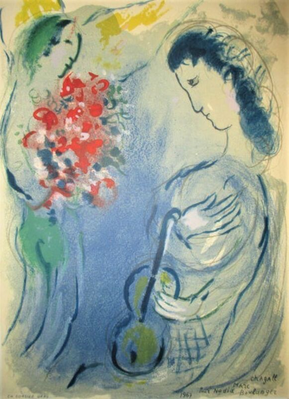 Marc Chagall, 'L'ange au bouquet', 1967, Print, Color lithograph on wove paper, Samhart Gallery