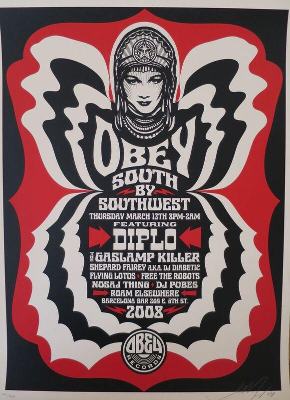 Shepard Fairey, 'South by SouthWest', 2008, Posters, Spekletone paper, AYNAC Gallery