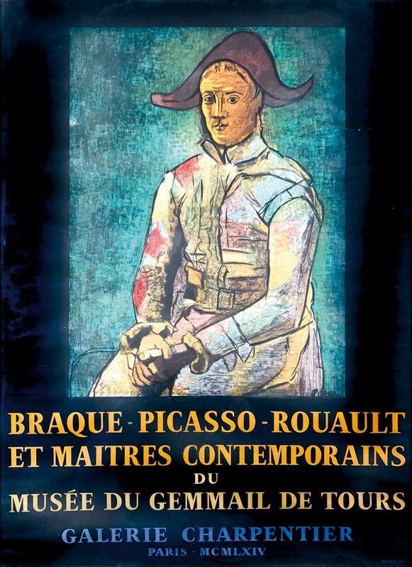 Pablo Picasso, 'BRAQUE – PICASSO – ROUAULT ET MAITRES CONTEMPORAINES DU MUSÉE DU GEMMAIL DE TOURS', 1954, Posters, A lithographic poster for a collective artist exhibition., Cambi