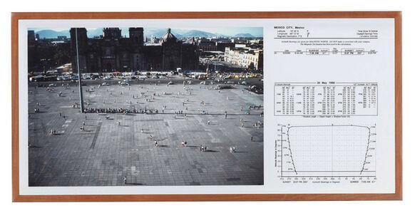Francis Alÿs, 'Sunpath, Mexico City 20.05.99, 4:33pm ', 1999