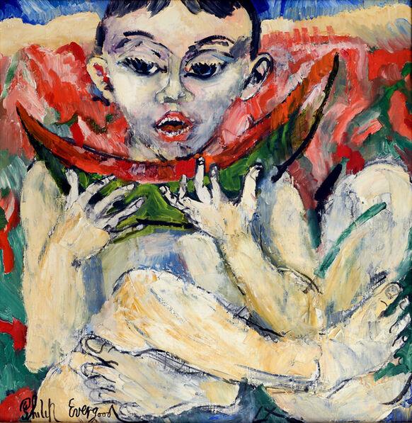 Philip Evergood, 'Untitled, Boy Eating Watermelon', 1960