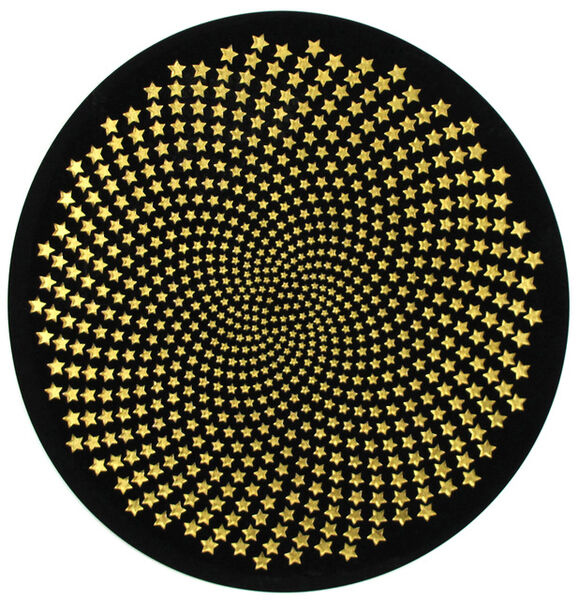 Peter Monaghan, 'Black Circle with Stars', 2018