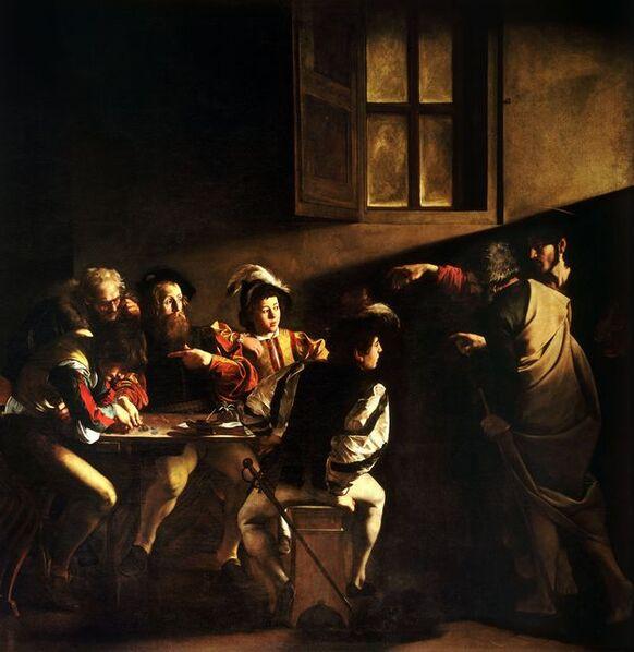 Michelangelo Merisi da Caravaggio, 'The Calling of St Matthew', 1599-1600