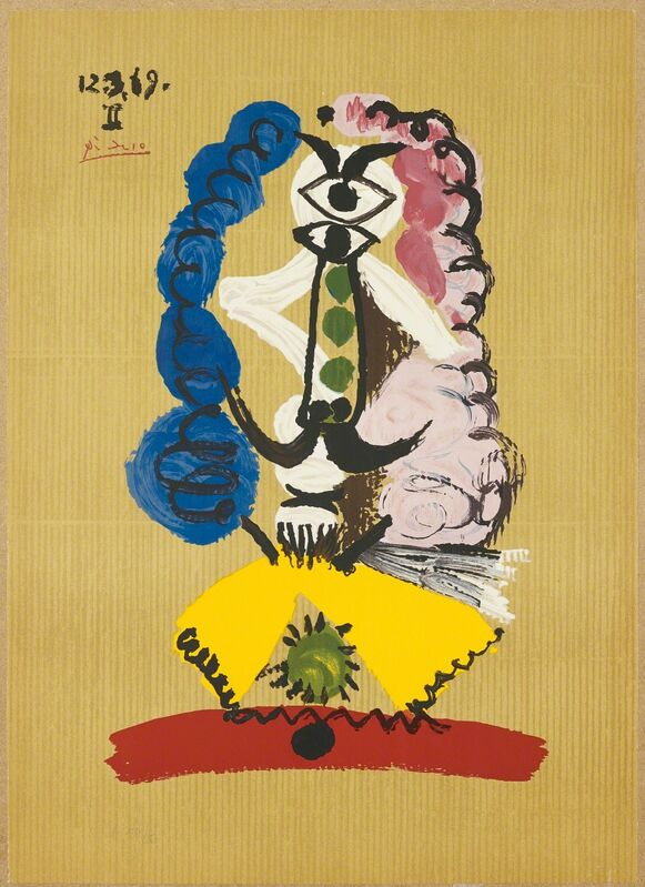 Pablo Picasso, 'Portrait imaginaire (Imaginary Portraits): one plate', 1969, Print, Offset lithograph in colours, on Arches paper, the full sheet, Phillips