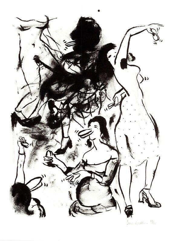Sue Williams, 'Castanets, 1993', 1994, Print, Silkscreen print, ICA London Benefit Auction