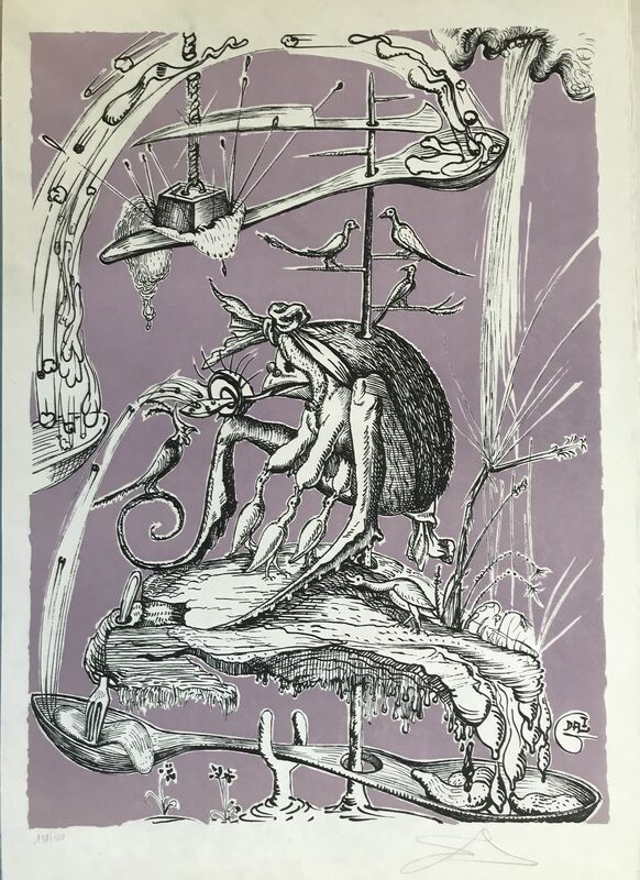 Salvador Dalí, 'Culinary Weathervane', 1973, Drawing, Collage or other Work on Paper, Lithograph, Dali Paris