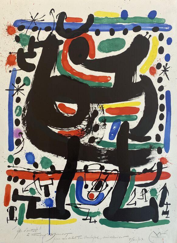 Joan Miró, 'Affiche pour Mourlot', 1967, Print, Lithograph, Denis Bloch Fine Art