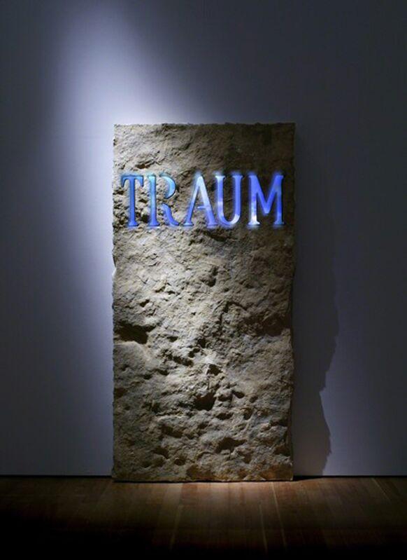 Fabrizio Plessi, 'Traum', 2004, Installation, Monolitic marble, plasma screen TV, USB stick, metal, Mario Mauroner Contemporary Art Salzburg-Vienna