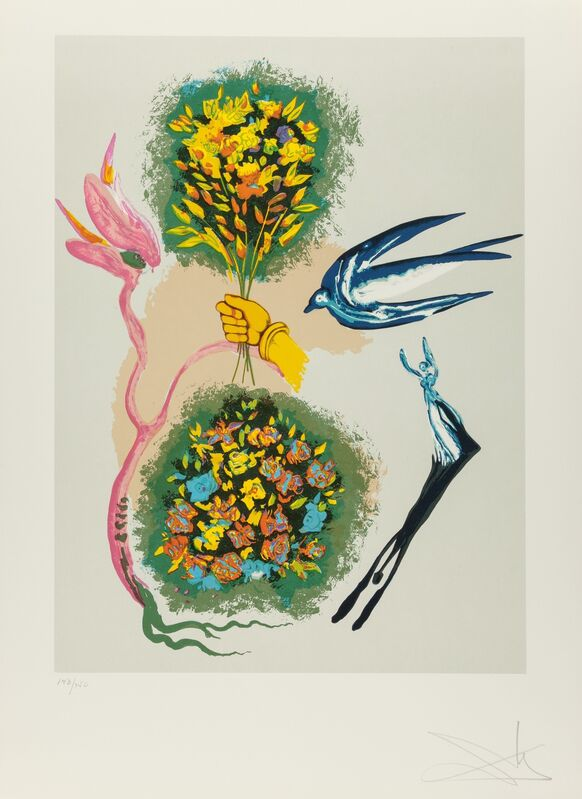 Salvador Dalí, 'Madam butterfly & the dream (two works)', 1978, Print, Lithographs in colors on Arches paper, Heritage Auctions