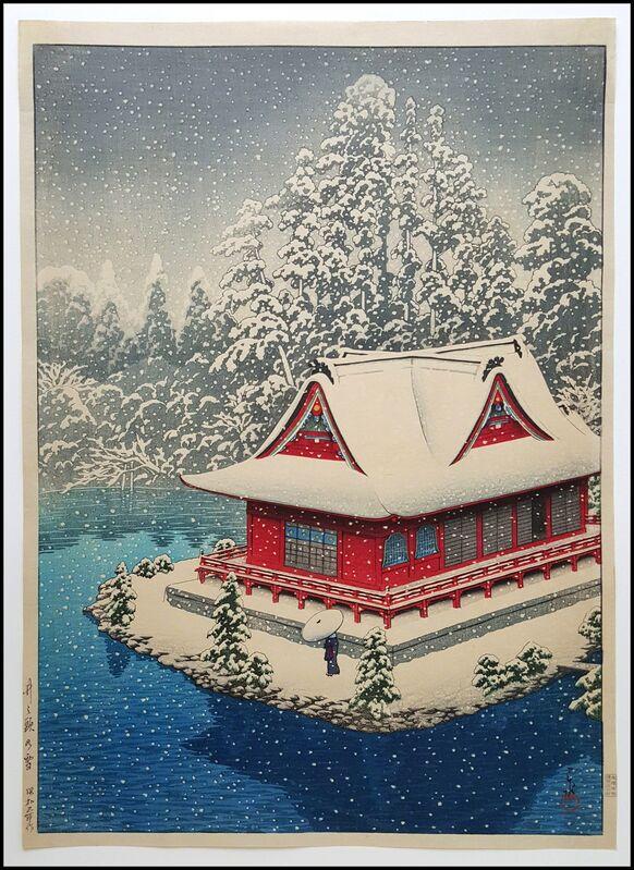 Kawase Hasui, 'Snow at Inokashira', 1928, Print, Woodblock, Verne Collection, Inc.