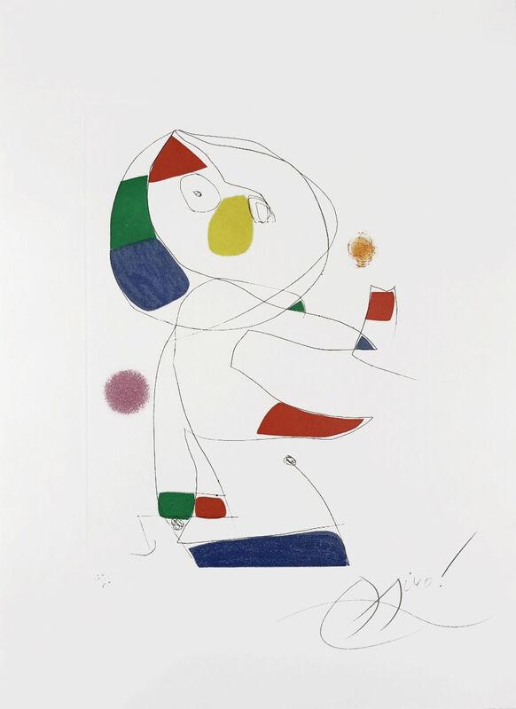 Joan Miró, 'Hommage a San Lazzaro, Pl. 4', 1977, Print, Color Aquatint, Masterworks Fine Art