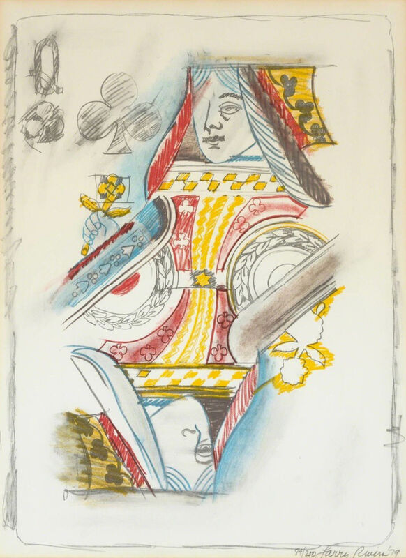 Larry Rivers, 'Queen of Spades', 1979, Print, Lithograph and silkscreen printed in colors on Arches paper, to the edg, World House Editions