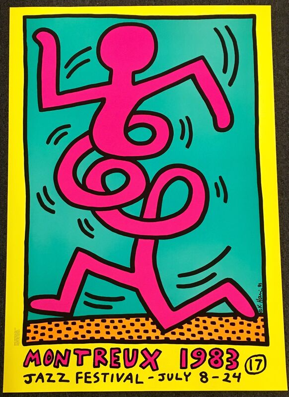Keith Haring, 'Keith Haring Montreux Jazz poster ', 1983, Print, Serigraph in colors, Lot 180