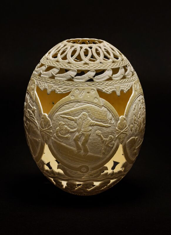 Gil Batle, 'Icarus', 2017, Sculpture, Carved Ostrich egg shell, Ricco/Maresca Gallery