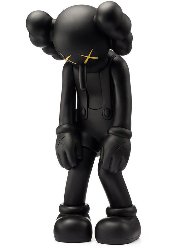 KAWS, ''Small Lie' (black)', 2017, Sculpture, Painted cast vinyl collectible art toy., Signari Gallery