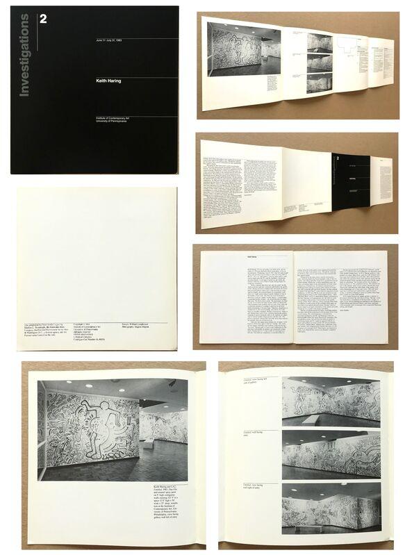 "Keith Haring, '""Keith Haring: Investigations 2"", 1983, Exhibition Catalogue, Philadelphia Institute of Contemporary Art, RARE', 1983, Ephemera or Merchandise, Lithograph on paper, VINCE fine arts/ephemera"