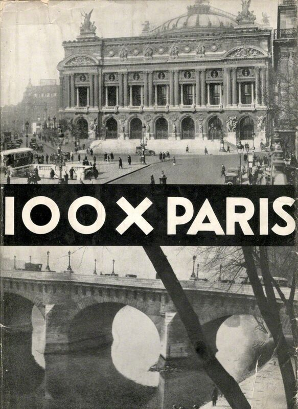 Germaine Krull, '100 x Paris', 1929, Drawing, Collage or other Work on Paper, Cover, Verlag der Reihe, Berlin-Westend, Jeu de Paume
