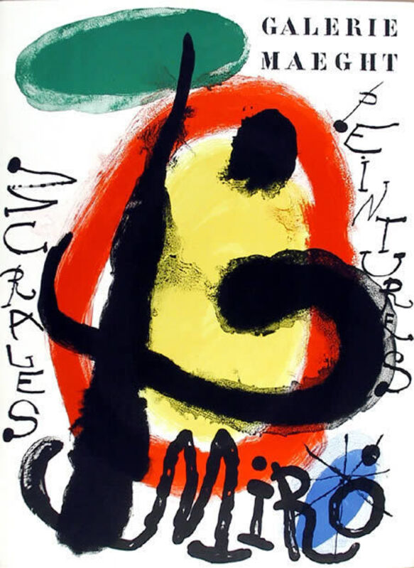 Joan Miró, 'Mural Paintings at the Galerie Maeght', 1961, Print, Original Lithograph Poster, RoGallery