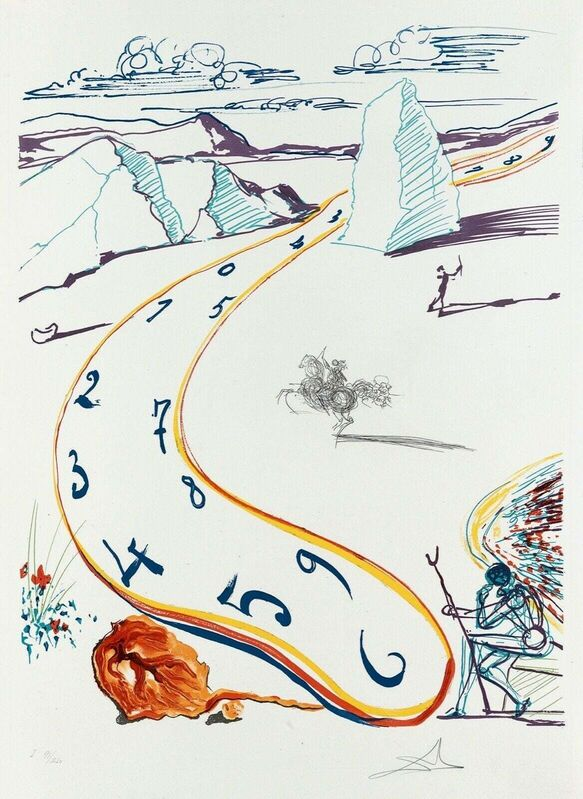 Salvador Dalí, 'Melting Space-Time (Imagination & Objects of the Future Portfolio)', 1975, Print, Lithograph on Arches paper, Art Commerce